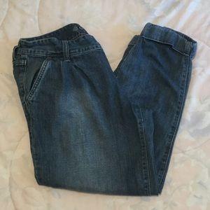 Old Navy Medium Wash Cuffed Boyfriend Jeans